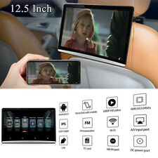 """12.5"""" HD 1080P Android 6.0 Car Headrest Rear Seat Monit Video Player WIFI 4G BT"""