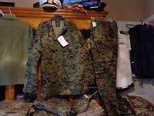 USMC MARPAT Uniform WOODLAND SET Combat Shirt Pant X LARGE LONG XLL NEW WITH TAG