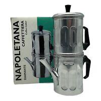 (New) Ilsa Napoletana Espresso Coffee Maker Polished Aluminium, 6 Cups