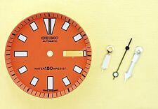 NEW SEIKO ORANGE DIAL HANDS MINUTE TRACK SET FOR SEIKO 6309 7290 WATCH NR-107