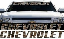Camo Chevrolet Pickup Truck Chevy Camo Windshield Tailgate Decal Sticker Banner