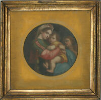 After Raphael - Fine 19th Century Oil, Madonna della sedia