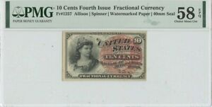 Fourth Issue 10 Cents FR#1257 PMG 58 CH AU EPQ Watermarked