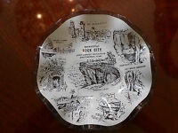 Rock City Lookout Mountain Tennessee Vintage Smoke Glass Candy Dish Tray Ashtray