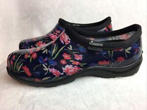 Sloggers Women's 9 M Rain Garden Booties Shoes Waterproof Pink Floral Excellent