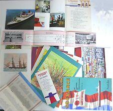 Lot de documents Paquebot France 1965, 1ère croisière Méditerranée.