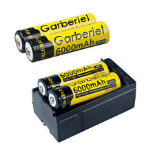 4pcs 18650 Battery 6000mah Rechargeable Batteries 3.7V Li-lion +USA Dual Charger