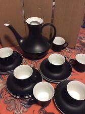 Espana Noche Block Bidasoa Modern Demitasse Espresso Cups,Saucers And coffee pot