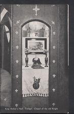 Cornwall Postcard- King Arthur's Hall, Tintagel - Chapel of The Old Knight B1188