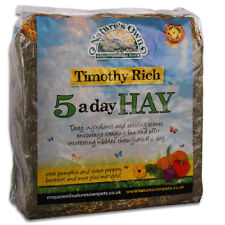 More details for nature's own 5 a day timothy rich bedding food hay rabbit guinea pig high fibre