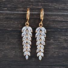 Fashion Women Luxury White Marquise CZ Cubic Zirconia Dangle Wedding Earrings
