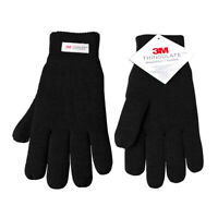 Mens Thinsulate 3M Thermal Gloves Fleece Lined Black size L/XL
