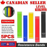 Set Of 5 Heavy Duty Resistance Band Loop Power GYM Fitness Exercise YOGA Bands