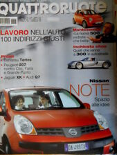 Quattroruote 607 2006 Nissan Note. Montezemolo e la nuova 500. Jaguar XK [Q73]