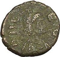 LEO I with kneeling captive 457AD Rare Authentic  Ancient Roman Coin i40193