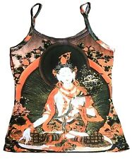 White Tara tipet nepal Buda Shiva Goa Beach tatuaje tipo de diseño camisa top S/M