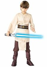 DELUXE CHILD JEDI COSTUME - SZ SMALL 4-6 (MISSING PRINTED BELT)
