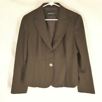 LAFAYETTE 148 NEW YORK BROWN BLAZER JACKET SIZE 6 Lined Career Solid