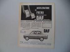 advertising Pubblicità 1964 DAF FODIL DAFFODIL 750
