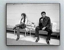 Rare Framed 1975 Muhammad Ali with Bob Dylan Vintage Photo. Giclée Print
