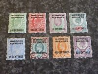 MOROCCO AGENCIES POSTAGE STAMPS SG112-119 1907-12 LIGHTLY-MOUNTED MINT