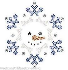 Christmas Snowman Rhinestone Iron on Transfer … JX4P