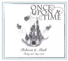 Personalised Disney Cinderella Wedding Day, Evening, RSVP Wedding Invitations