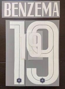 FLOCAGE Équipe De France Benzema #19 Name Set Domicile 2 Étoiles.Euro 2020 2021