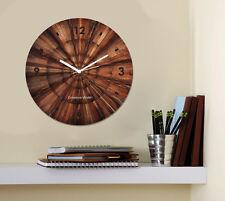 Creative Width Wood Print Wall Clock