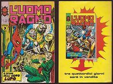 L'UOMO RAGNO 136 IL SEGNO DELL'UOMO LUPO - CORNO 17/7/1975 + IRON MAN