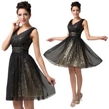 SHINY Short Prom Dresses Bridesmaid Party Masquerade Evening Ball Gowns PLUS SZ