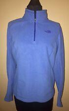 The North Face Womens Pullover 1/2 Zip M/L M Blue Shirt Fleece Long Sleeve