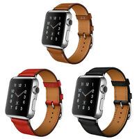 Genuine Leather Single Tour Watchband iWatch Strap For Apple Watch Series 3/2/1