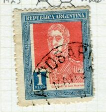 ARGENTINA;   1923 early San Martin issue fine used 1P. value,