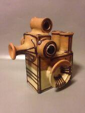 E K Heerwagen Danish art pottery abstract duck bird posy vase modernist candle