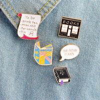 5PCS/Set Cartoon Enamel Collar Brooch Pins Badge Corsage Brooch Jewelry Gift HF