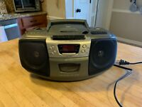 Lenoxx Sound CD-102 Boombox Stereo CD Audio Cassette Player Radio AM/FM TESTED