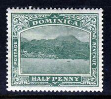 DOMINICA King Edward VII 1907 Halfpenny Deep Green Wmk Crown CA SG 37 MINT