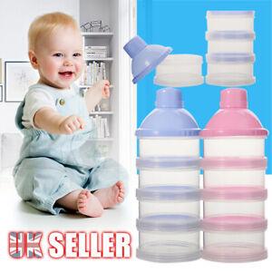 4 Layers Case Feeding Container Food Baby Milk Dispenser Powder Formula Box