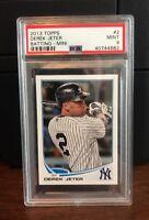 2013 Topps Mini Derek Jeter Yankees Baseball Card #2 PSA 9 Mint