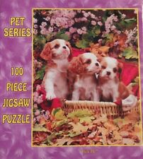 "PET SERIES 100 PIECES THREE LITTLE DOGS IN A BASKET SIZE 9"" X 12"" AGES 5 AND UP"