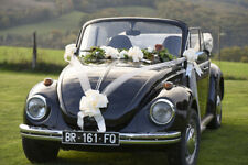 Wedding Car Decoration Kit Ivory Including Pull Bows & Tulle Ribbon **Free P&P**