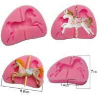 3D Carousel Horse Sugarcraft Silicone Mould Fondant Cake Mold Chocolate Decor