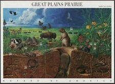US NATURE 2001 SCOTT #3506 GREAT PLAINS PRAIRIE SET OF 10 MNH VF 34c STAMP SHEET