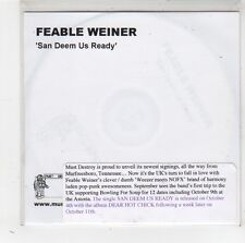 (FW187) Feable Weiner, San Deem Us Ready - 2004 DJ CD