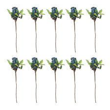 10pcs décoratif myrtille fruit baies plantes artificielles pour mariage