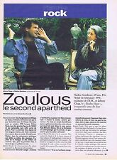 COUPURE DE PRESSE CLIPPING 1993 JOHNNY CLEGG - NADINE GORDIMER  (2 pages)