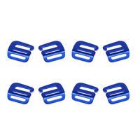 8Pcs 1'' Hook Outdoor Webbing Buckle Luggage Sack Strap Belt 25mm Blue