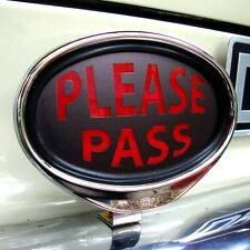 PLEASE PASS sign illuminated sign for Classic Car Porsche VW Hotrod Ford  AAC211