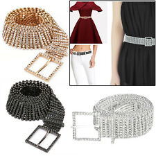 Silver Crystal Rhinestones Studded Waist Belt for Ladies Party Dress Accessories